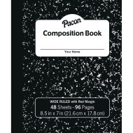 Pacon® Soft Cover Composition Book, Black Marble