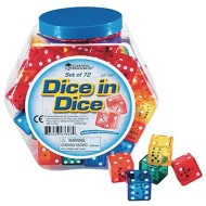 Learning Resources® Dice in Dice (Set of 72)