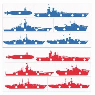 Bowling Battle Ships™ Target Mat (Set of 12)