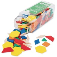 Plastic Pattern Blocks Learning Manipulative for Early Math and More