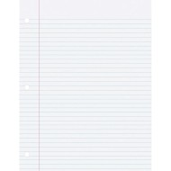 College-Ruled 3-Hole Punched Notebook Paper, 8-1/2
