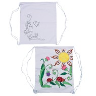 Color-Me™ Printed Flower Backpack (Pack of 12)