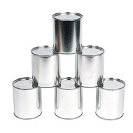 Knock Down Metal Cans for Carnival Game (Pack of 12)