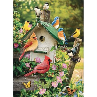 Around The Birdhouse 35-Piece Tray Puzzle - Image 1 of 2