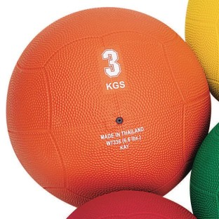 Rubber Medicine Ball, 6.6-lbs - Image 1 of 1