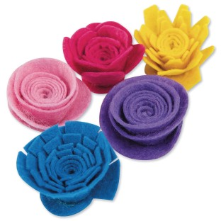 Felt Flower Spirals - Image 1 of 2