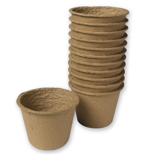 Compostable Flower Pot Pack (Pack of 12) - Image 1 of 1