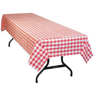 Buy Table Mate 54 X 108 Red Gingham Plastic Table Cover Value