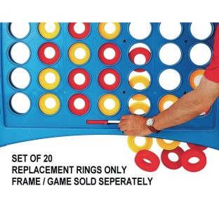 Replacement Rings for Super 4 In A Line Game (Pack of 20) - Image 1 of 1