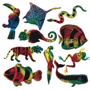 Scratch-Art® Rainforest and Sea Life Shapes - Image 1 of 2