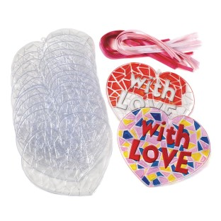 Stained Glass Hearts (Pack of 24) - Image 1 of 1