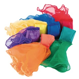 Spectrum™ Beanbag Scarves (Pack of 6) - Image 1 of 3