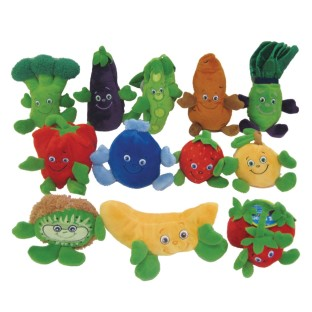 Fruit and Veggie Plush Beanbag Characters - Image 1 of 1