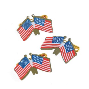 Double American Flag Pins - Image 1 of 1