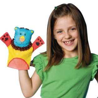 Color-Me™ Fabric Animal Hand Puppets - Image 1 of 3