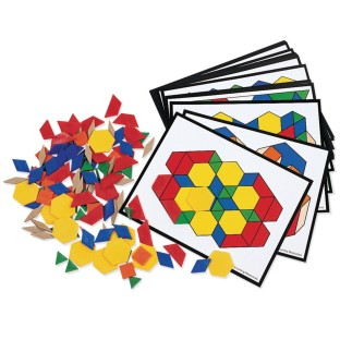 Pattern Blocks and Activity Cards Set - Image 1 of 1