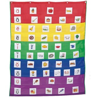 Rainbow Pocket Chart - Image 1 of 1