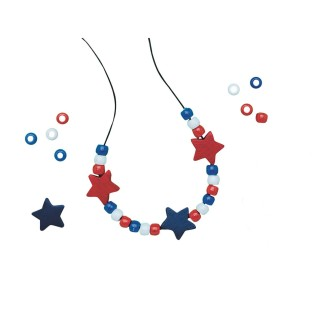 Patriotic Necklace Craft Kit - Image 1 of 1