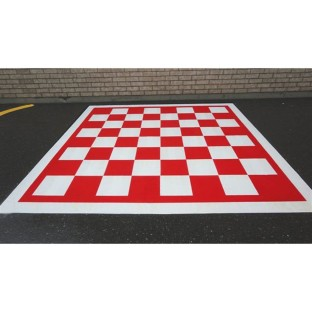 Chess and Checkerboard Stencil - Image 1 of 3