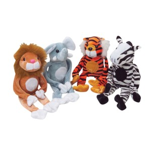 Wild Animals with Closable Hands (Pack of 12) - Image 1 of 1