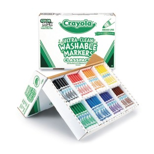 Crayola® Ultra-Clean Washable Marker™ Classpack® (Box of 200) - Image 1 of 1