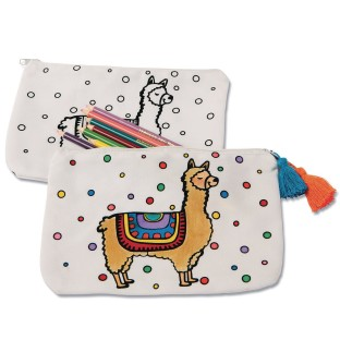 Velvet Art Canvas Llama Pouch (Pack of 12) - Image 1 of 1