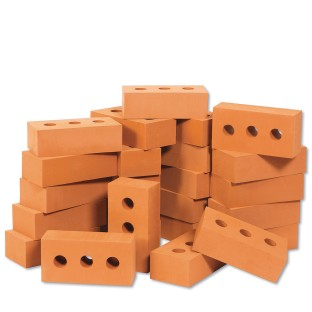 Play Foam Toy Building Bricks Set (Set of 25) - Image 1 of 3