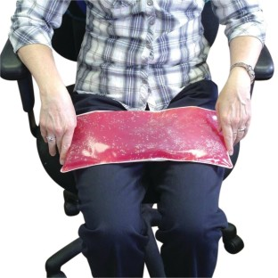 Weighted Gel Lap Pad, Red, 3lbs. - Image 1 of 2