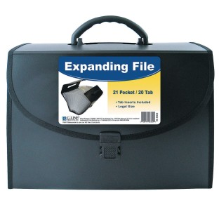 21-Pocket Legal Size Expanding File with Handle - Image 1 of 2