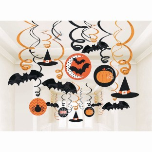 Halloween Mega Value Swirl Decorations (Pack of 30) - Image 1 of 1