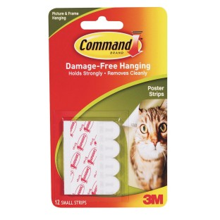 3M Command™ Adhesive Damage Free Poster Strips (Pack of 12) - Image 1 of 1