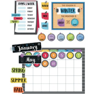 Bold & Bright Calendar Set Bulletin Board - Image 1 of 1