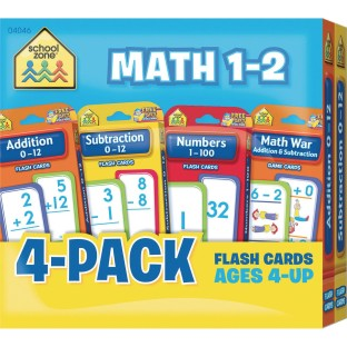 Math Flash Cards Pack, Grades 1 – 2 - Image 1 of 1