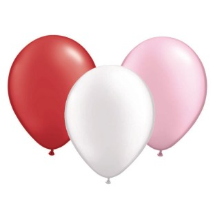 "Valentine Latex Balloon Assortment, 12"" (Pack of 100) - Image 1 of 1"