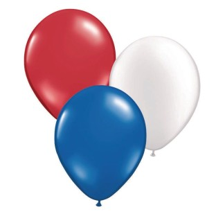 "Patriotic Latex Balloon Assortment, 12"" (Pack of 100) - Image 1 of 1"