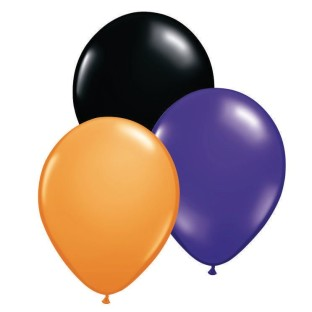 "Halloween Latex Balloon Assortment, 12"" (Pack of 100) - Image 1 of 1"