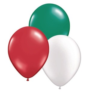 "Christmas Latex Balloon Assortment, 12"" (Pack of 100) - Image 1 of 1"