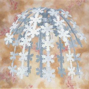 "24"" Snowflake Cascade - Image 1 of 1"