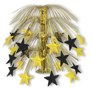 Black & Gold Stars Cascade Centerpiece (Pack of 6) - Image 1 of 1