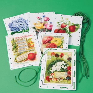 Vintage Garden Jumbo Lacing Cards (Set of 6) - Image 1 of 1