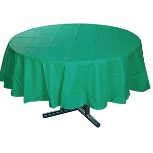 "Table-Mate® 84"" Round Plastic Table Cover - Image 1 of 2"