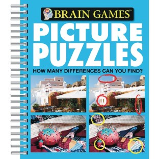 Picture Puzzles Book: How Many Differences Can You Find? - Image 1 of 1