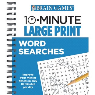 10 Minute Large Print Word Searches Book - Image 1 of 1