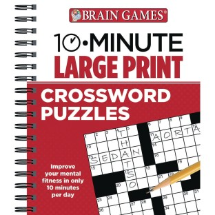 10 Minute Large Print Crossword Puzzles Book - Image 1 of 1