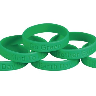 Go Green Sayings Silicone Bracelets (Pack of 24) - Image 1 of 2