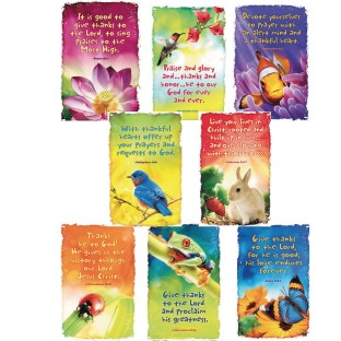Give Thanks to God Bulletin Board Poster Set - Image 1 of 1