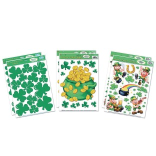 St. Patrick's Day Static Clings (Pack of 6) - Image 1 of 1