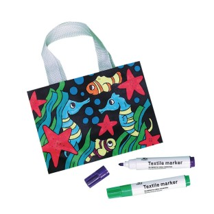 Velvet Sea Life Totes Craft Kit (Pack of 12) - Image 1 of 1