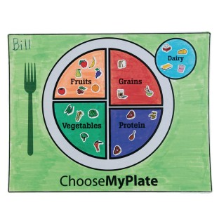 MyPlate Coloring Placemats Craft Kit (Pack of 48) - Image 1 of 2