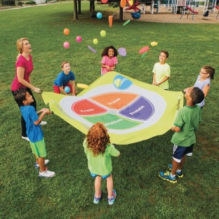 8' Choose MyPlate Parachute - Image 1 of 4